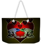 Frogs In Love Weekender Tote Bag