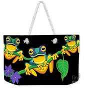Frogs On Vines Weekender Tote Bag