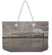 from Alki Beach Seattle skyline Weekender Tote Bag