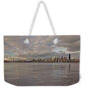 from Alki Beach Seattle skyline Weekender Tote Bag