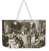 From Hand To Mouth, Engraved By J.m Weekender Tote Bag