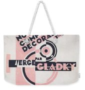 Front Cover Of Nouvelles Compositions Decoratives Weekender Tote Bag