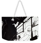 Front Cover Of The Prospectus For The Yellow Book Weekender Tote Bag by Aubrey Beardsley