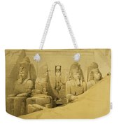 Front Elevation Of The Great Temple Of Aboo Simbel Weekender Tote Bag by David Roberts