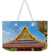 Front Of Royal Temple At Grand Palace Of Thailand In Bangkok Weekender Tote Bag