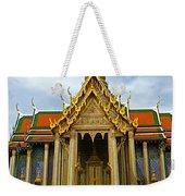 Front Of Thai-khmer Pagoda At Grand Palace Of Thailand In Bangkok Weekender Tote Bag