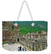 Front Of Theater In Ephesus-turkey Weekender Tote Bag