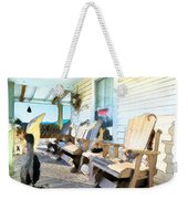 Front Porch On An Old Country House 2 Weekender Tote Bag