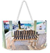 Front Porch On An Old Country House  3 Weekender Tote Bag