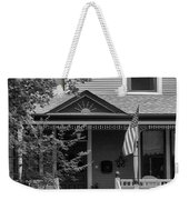 Front Porch Usa Black And White Weekender Tote Bag