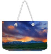 Front Range Light Show Weekender Tote Bag by Darren  White
