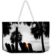 Front Row For Sunset Weekender Tote Bag