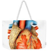 Front View Of Human Heart Weekender Tote Bag by Stocktrek Images