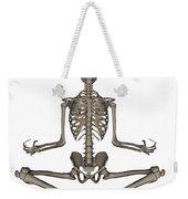 Front View Of Human Skeleton Meditating Weekender Tote Bag