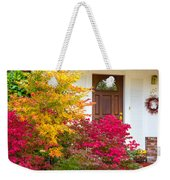 Front Yard Autumn Decor, Quincy California Weekender Tote Bag