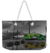 Front Yard Path Black And White Weekender Tote Bag