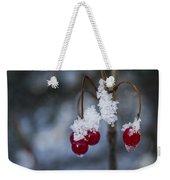 Frost Berries Weekender Tote Bag