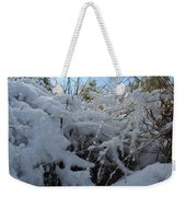 Frost Grass Weekender Tote Bag