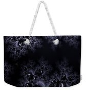Frost In The Moonlight Fractal Weekender Tote Bag