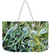 Frost On Strawberry Leaves Weekender Tote Bag