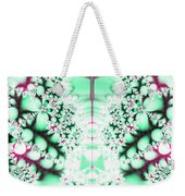Frost On The Grass Fractal Weekender Tote Bag