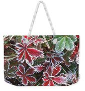 Frost On Wild Strawberry Weekender Tote Bag