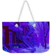 Frost On  Winding Staircases Weekender Tote Bag