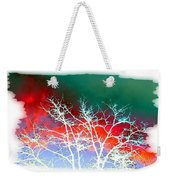 Frost Shrouded Tree Weekender Tote Bag