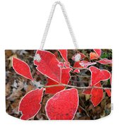 Frosted Blueberry Leaves Weekender Tote Bag