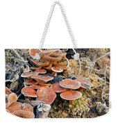 Frosted Cascading Mushrooms Weekender Tote Bag