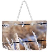 Frosted Fence Line Weekender Tote Bag