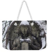 Frosted Stone Angel Weekender Tote Bag