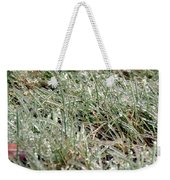 Frosted Grass Weekender Tote Bag