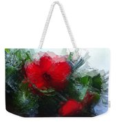 Frosted Hibiscus 3 Weekender Tote Bag