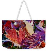 Frosted Leaves #2 - Painted Weekender Tote Bag