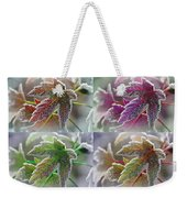 Frosted Maple Leaves In Warm Shades Weekender Tote Bag