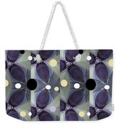 Frosted Purple Flower Weekender Tote Bag