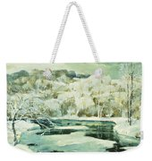 Frosted Trees Weekender Tote Bag by Jonas Lie