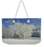Frosted Trees - Newton Road Park Weekender Tote Bag