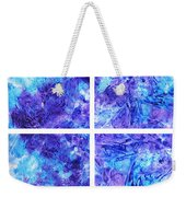 Frosted Window Abstract Collage Weekender Tote Bag