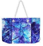Frozen Castle Window Blue Abstract Weekender Tote Bag