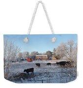 Frosty Barnyard Weekender Tote Bag