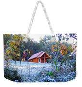Frosty Cabin Weekender Tote Bag