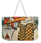 Frosty Family Weekender Tote Bag