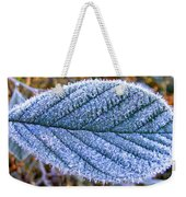 Frosty Leaf Weekender Tote Bag