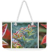 Frosty Leaves Weekender Tote Bag