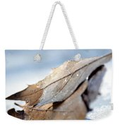 Frosty Leaves In The Morning Sunlight Weekender Tote Bag
