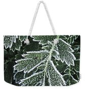 Frosty Leaves Macro Weekender Tote Bag