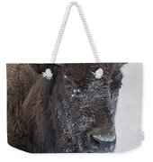 Frosty Morning Bison Weekender Tote Bag