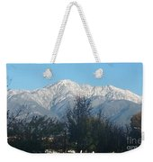 Frosty Mountain Top View From Rancho Cucamonga Ca. Weekender Tote Bag